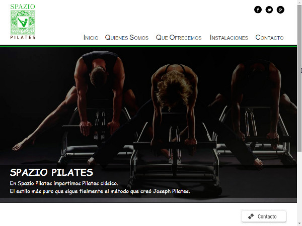 Web corporativa centro de pilates Spazio Pilates